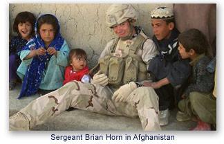 Sergeant Brian Horn in Afghanistan