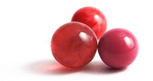 three red marbles