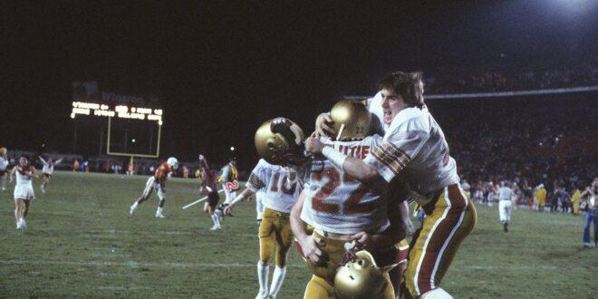 Doug Flutie celebrates with his brother