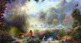 The Garden of Eden as painted by artist, Akiane Kramarik