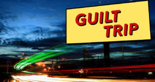Billboard reading Guilt Trip