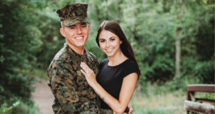 Marine and girlfriend