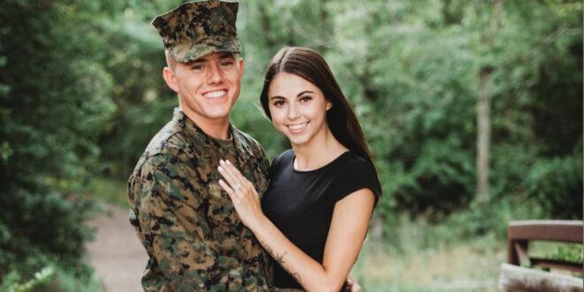 Marine and girlfriend