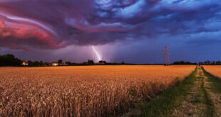 farm in a storm
