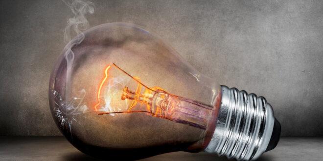 cracked light bulb