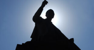 Silhouette of a preacher