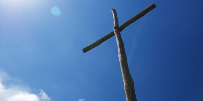 Wooden Cross representing Christian Story