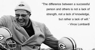 Vince Lombardi – Success Coach