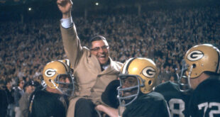 Vince Lombardi with Packers