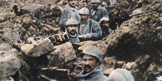 German soldiers in trenches