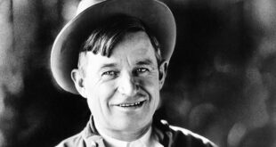 Will Rogers in old black & white photo