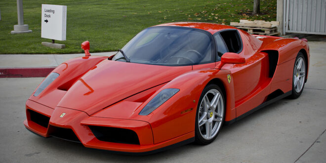 Red Ferrari Parked in Loading Dock for funny stories