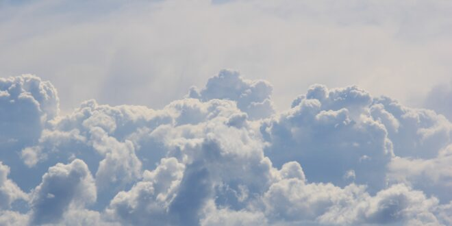 Clouds representing funny short story about pearly gates