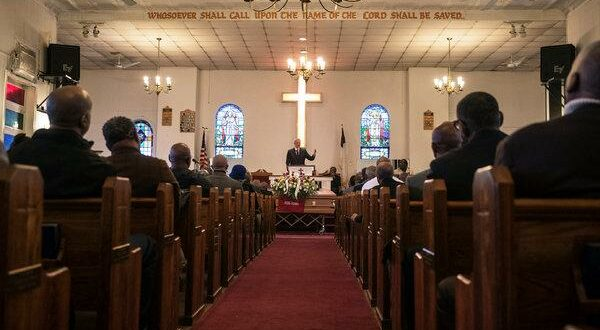 Funeral story at a Christian Church