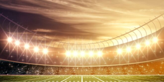 Football field inspiring sports stories