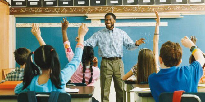 Male Teacher in Classroom