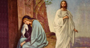 Mary and Jesus as he is risen