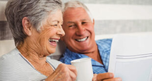 old couple laughing
