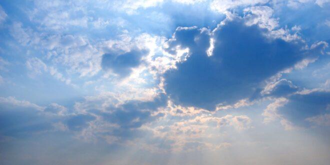 Clouds and Sun representing Jesus healing