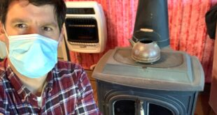 quarantined man with old stove