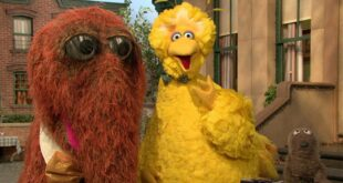 Big Bird and a Wooly Friend