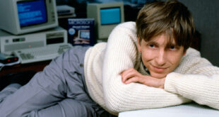 Bill Gates with his early computer