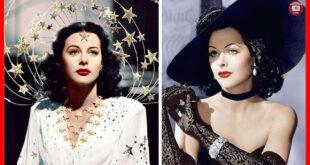 2 color photos of Hedy Lamarr