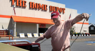 Man in front of Home Depot