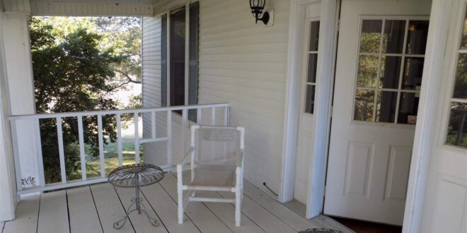 Old white porch