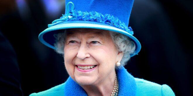 Queen Elizabeth II in her Royal Blue