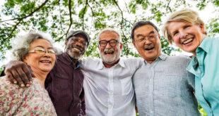 group of elderly friends