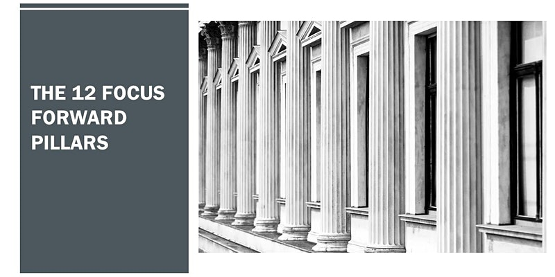 The12 Focus Forward Pillars for your Business.