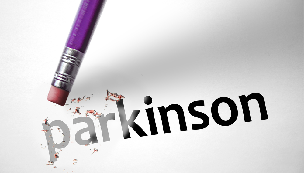 Eraser deleting the word Parkinson, Dr. Hinz research changed the way Parkinson's is treated