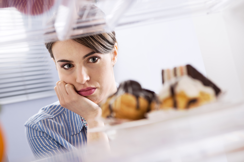 woman with food cravings and neurotransmitter imbalances