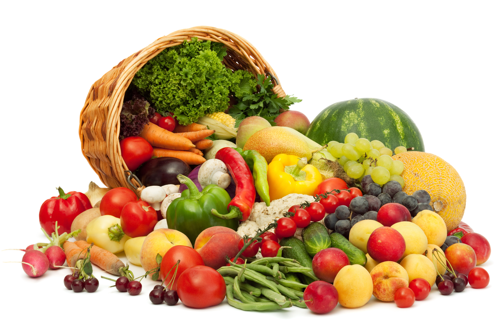fresh fruits and vegetables that aid in detox