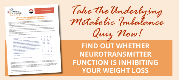 Is Neurotransmitter Function Your Underlying Metabolic Imbalance?