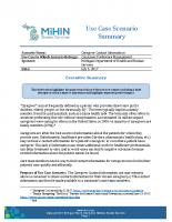 MiHIN UCSS Caregiver Contact Information