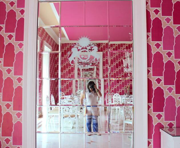 51 Shades of Pink Dining Room, Sujan Rajmahal Palace Hotel. Image: Katrina Holden