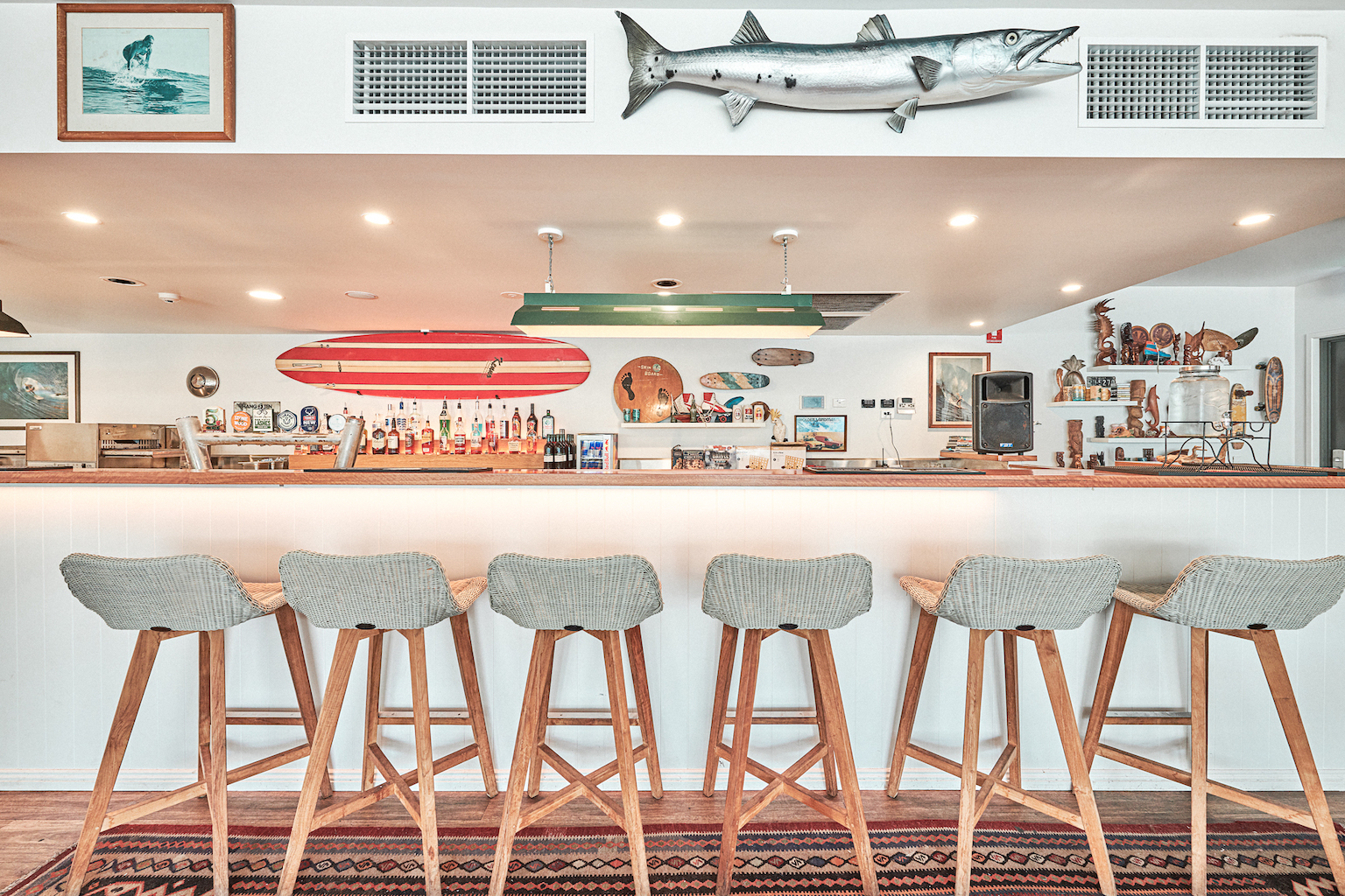 The bar at The Surf House. Image: Amy Whitfield