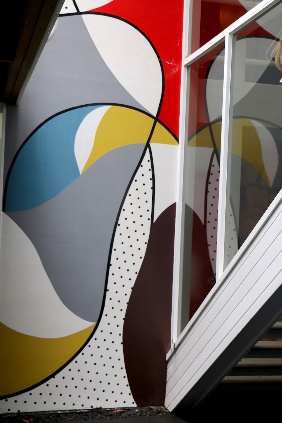 Rose Seidler House mural and stairs image Katrina Holden