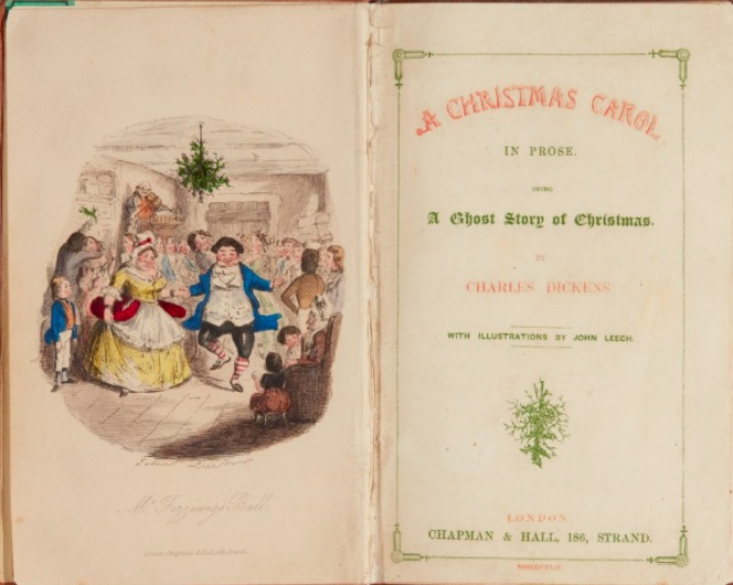 Charles Dickens A Christmas Carol image by Sothebys first edition