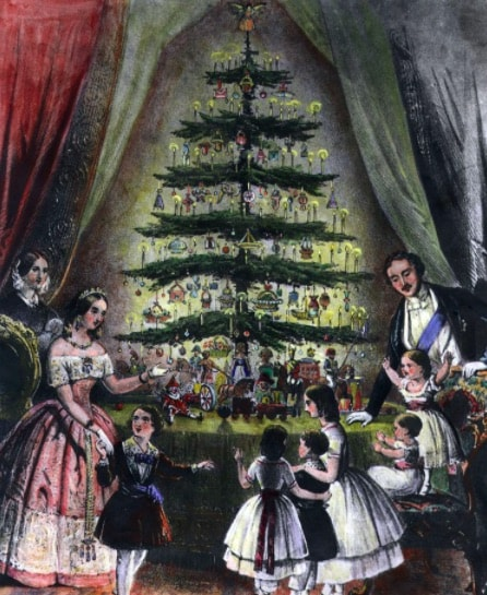 Christmas_Queen Victoria and Prince Albert 1848_Hulton Archive Getty Images