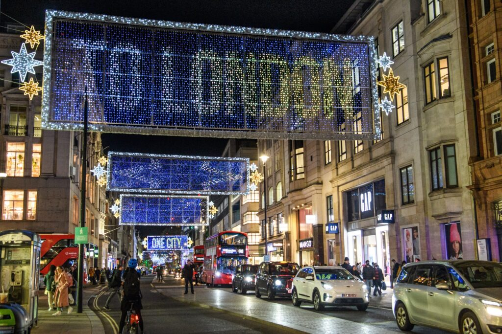 Oxford Street lights (c) Press Association New West End Company