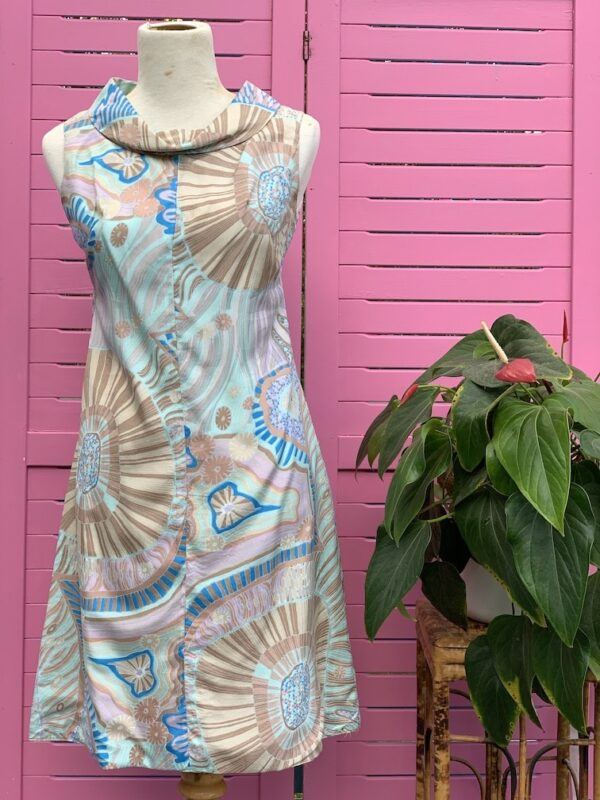 Vintage 1960s Colin Glascoe silk dress