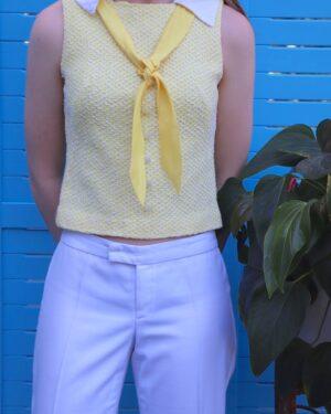 Vintage 1960s yellow top