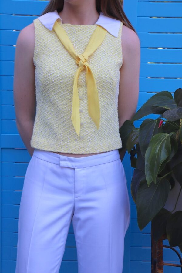 Vintage 1960s yellow top