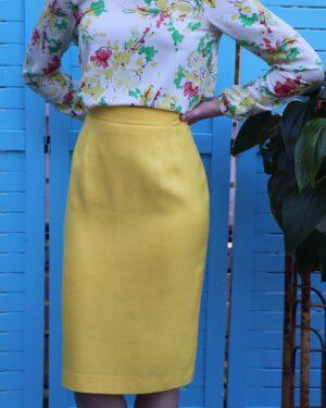 Vintage 1990s Louis Féraud pencil skirt