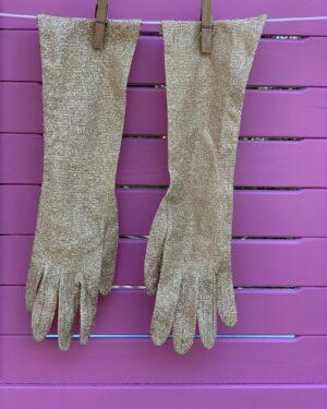 Vintage Dents gold lurex opera gloves