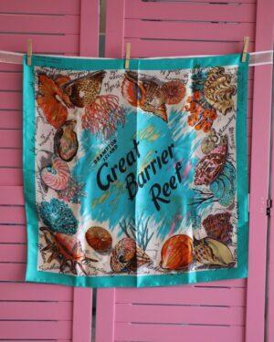 Vintage Great Barrier Reef scarf