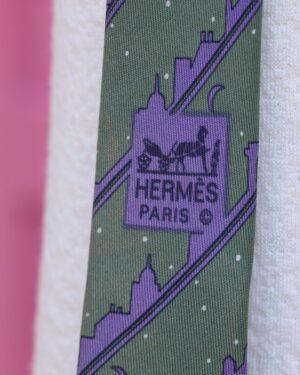 Vintage Hermes silk tie